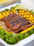 Carne do peito de carne do BBQ fotos de stock