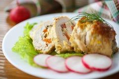 Carne do rolo da galinha fotografia de stock