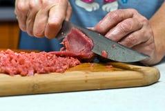 A carne dos cortes Fotos de Stock