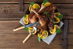 Carne dos gansos para o dia de St Martin foto de stock