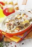 Carne dos rins na cidra Imagem de Stock