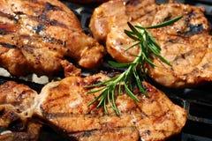 Carne durante o churrasco foto de stock royalty free