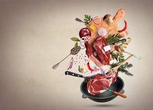 Carne e carne fotos de stock
