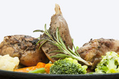 Carne e batatas do coelho Imagens de Stock