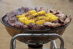 Carne e cereale Fotografie Stock