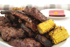 Carne e cereale Fotografia Stock