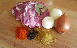 Carne e especiarias Fotos de Stock