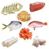 Carne e frutti di mare Fotografia Stock