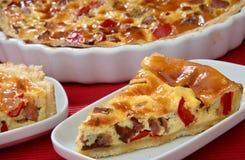 Carne e grafico a torta cotto verdura Immagine Stock