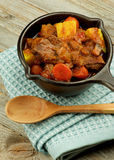Carne e guisado dos vegetais Foto de Stock Royalty Free