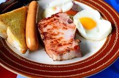 Carne e hotdog do bife Fotos de Stock