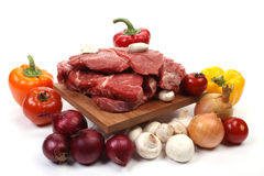 Carne e ingredientes Imagem de Stock Royalty Free