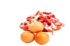 Carne e ovos Fotos de Stock Royalty Free