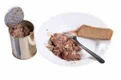 Carne e pane stufati Fotografia Stock Libera da Diritti