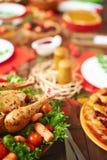 Carne e pastelaria fotografia de stock