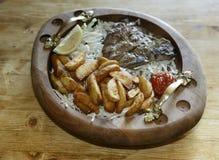 Carne e patata Fotografia Stock Libera da Diritti