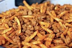 Carne e patate Fotografia Stock