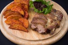 Carne e patate Fotografie Stock