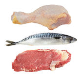 Carne e pesci Fotografia Stock Libera da Diritti