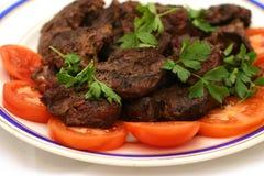 Carne e pomodori dell'arrosto Fotografie Stock Libere da Diritti