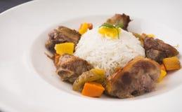 Carne e riso Immagine Stock
