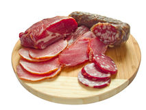 Carne e salsiccia fotografie stock