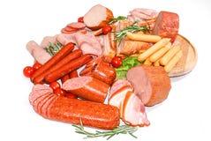Carne e salsichas Imagens de Stock