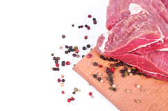 Carne e spezia grezze fotografia stock