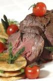 Carne e tomate Fotos de Stock Royalty Free