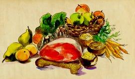 Carne e vegetais Fotos de Stock
