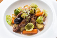 Carne e vegetais Fotografia de Stock