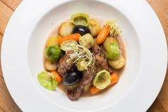 Carne e vegetais Imagens de Stock Royalty Free