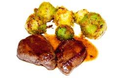 Carne e vegetais Foto de Stock