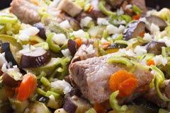 Carne e vegetais grelhados Imagens de Stock Royalty Free
