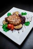 Carne e vegetais grelhados Fotografia de Stock Royalty Free