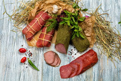 Carne e verdure Fotografie Stock