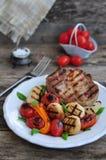 Carne e verdure cotte Fotografia Stock Libera da Diritti