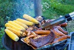 Carne e verdure cotte Fotografie Stock Libere da Diritti