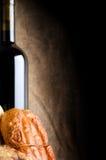Carne e vinho Foto de Stock Royalty Free