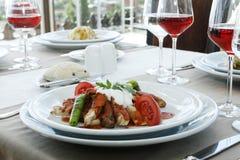 Carne e vinho vermelho Foto de Stock Royalty Free