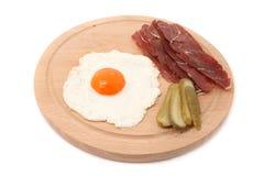 Carne ed uovo Immagine Stock