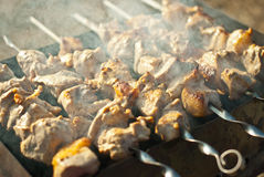 Carne em espetos Fotos de Stock Royalty Free