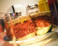 Carne em lata no centeio Imagem de Stock Royalty Free