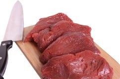 Carne em uma placa de estaca foto de stock royalty free