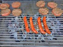 Carne en el Bbq Imagenes de archivo