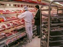 Carne en merket Foto de archivo libre de regalías