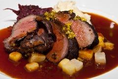 Carne en salsa Foto de archivo libre de regalías