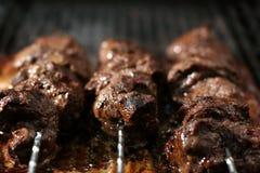 Carne en un palillo foto de archivo