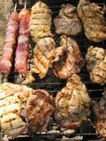 Carne en una barbacoa Fotografía de archivo libre de regalías