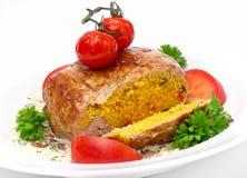 Carne enchida com cuscuz Imagens de Stock